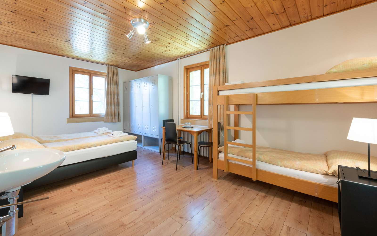 four-bed room Hostel by Randolins St. Moritz Switzerland